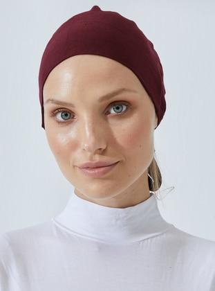 Maroon - Lace up - Bonnet