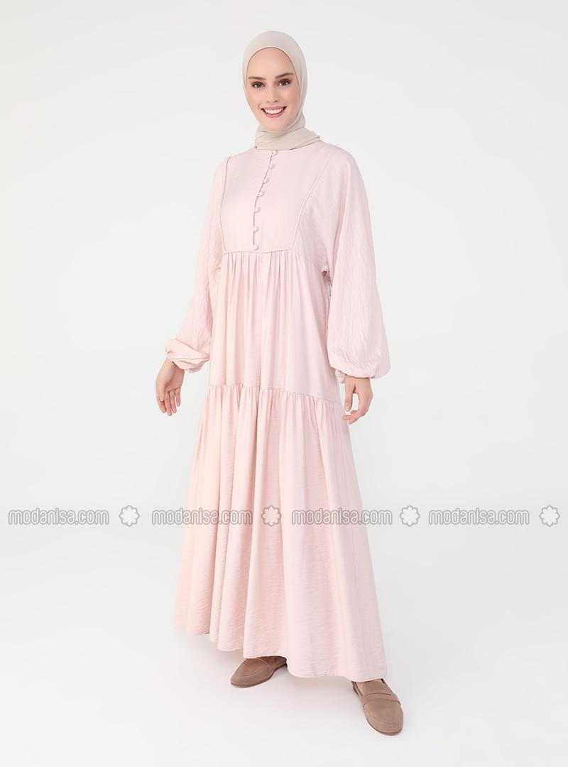 Powder - Crew neck - Unlined - Modest Dress - Casual