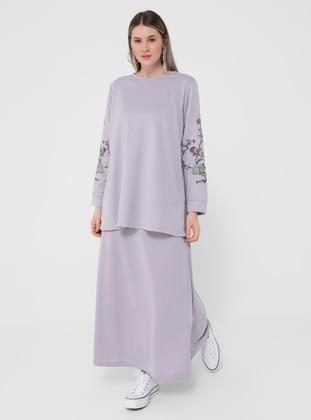 Lilac - Unlined - Plus Size Skirt - Alia