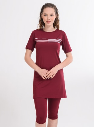 Maroon - Unlined - Half Covered Switsuits