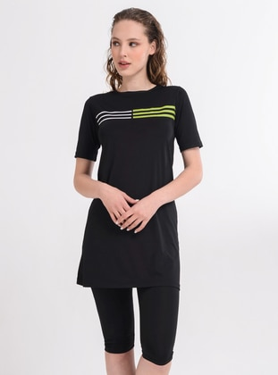 Black - Unlined - Half Covered Switsuits
