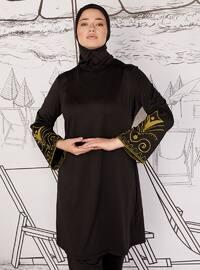 Black - Unlined - Plus Size Swimsuit