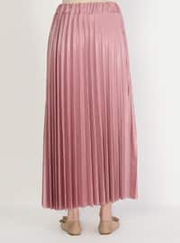 Pink - Unlined - Skirt