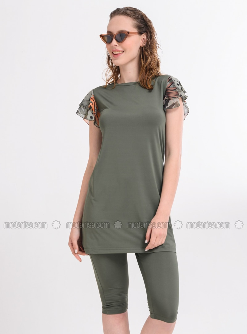 Khaki - Unlined - Half Covered Switsuits