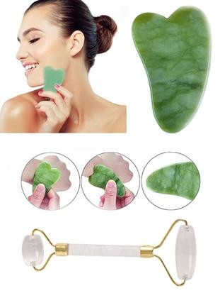 Gua Sha Face Care Massage Stone + Jade Roller White Jade Stone