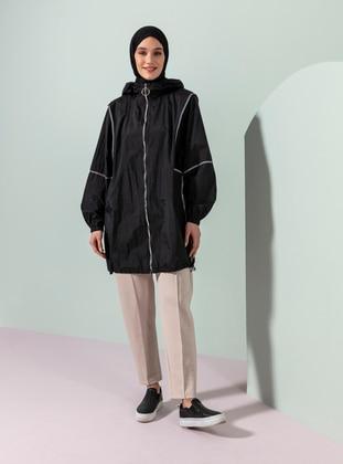 Black - Fully Lined - Topcoat