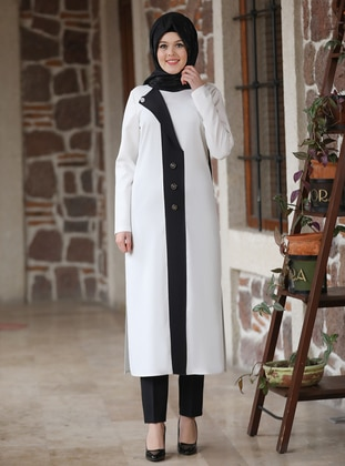 Ecru - Ecru - Black - Unlined - Evening Suit