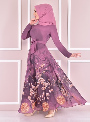 Dusty Rose - Modest Evening Dress