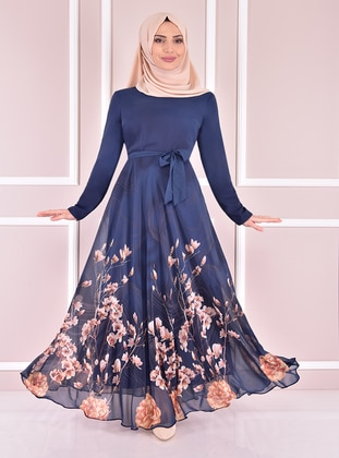 Indigo - Modest Evening Dress