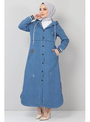 Blue - Topcoat - Tesettür Dünyası