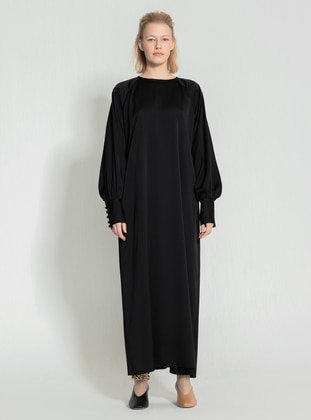 White - Crew neck - Unlined - Modest Dress