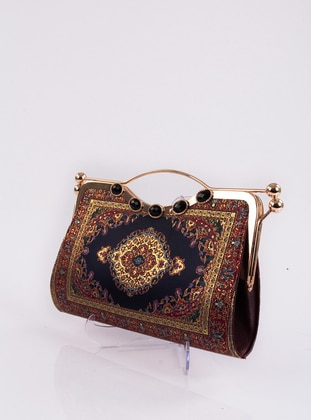 Maroon - Satchel - Clutch - Clutch Bags / Handbags