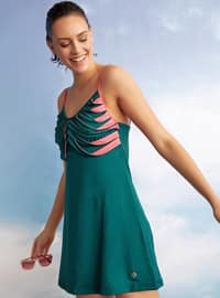 Green - Unlined - Half Covered Switsuits