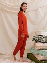 Orange - Unlined - Suit