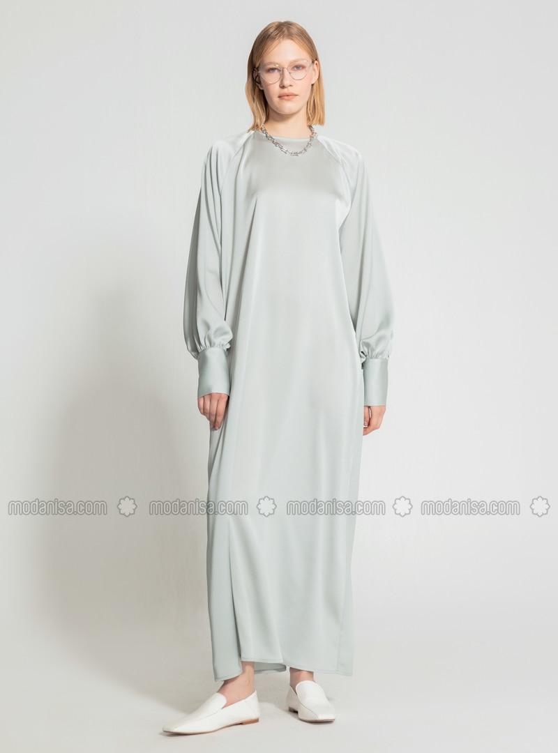 Mint - Crew neck - Unlined - Modest Dress