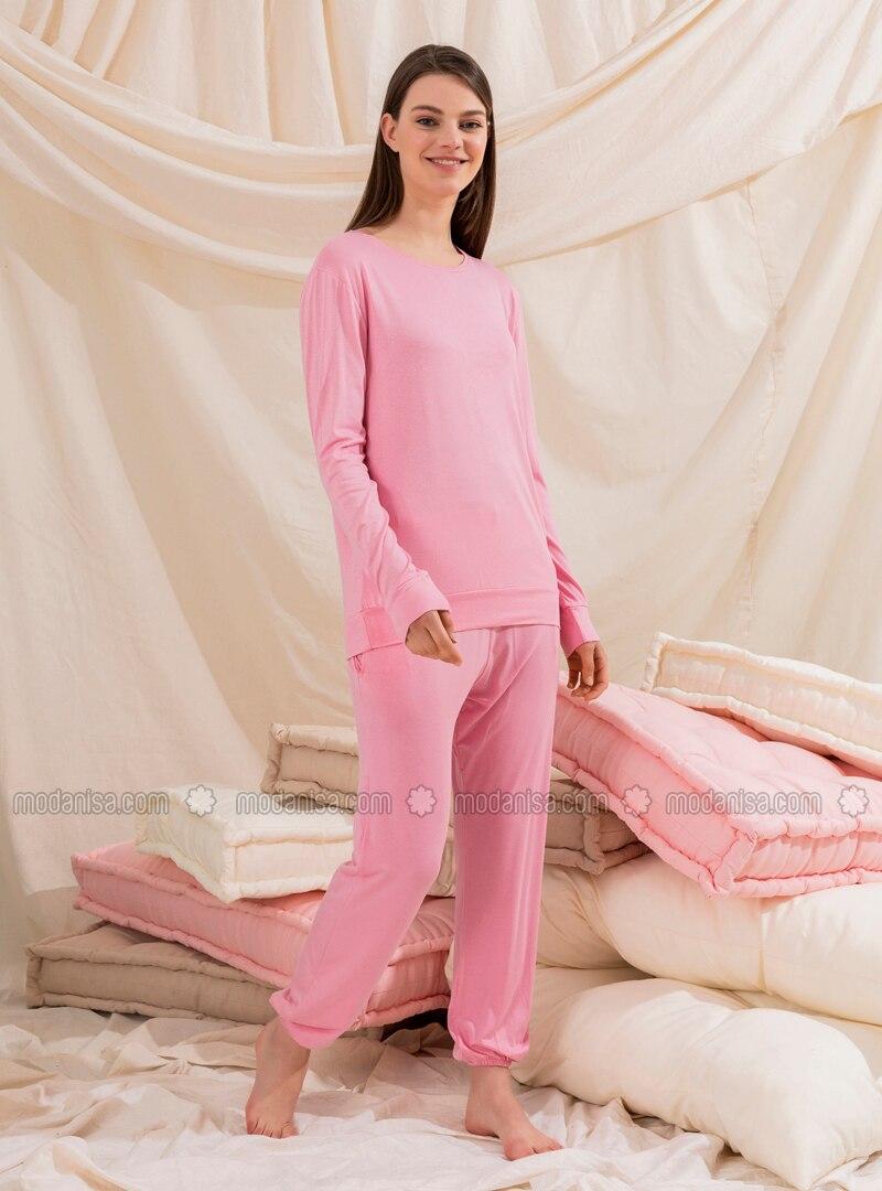 Pink - Unlined - Suit