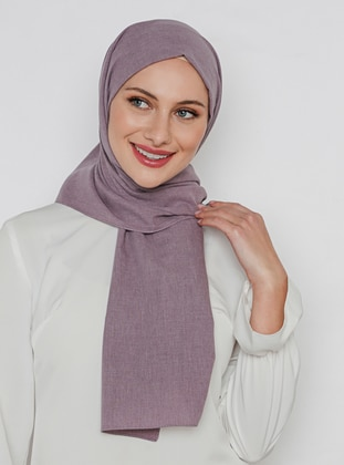Lilac - Plain - Cotton - Shawl