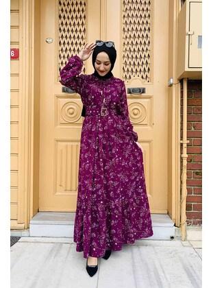 Plum - Modest Dress