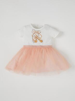 Ecru - Baby Dress - DeFacto