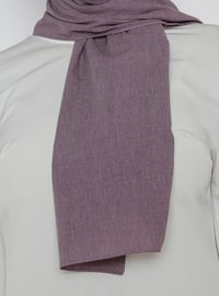 Lilac - Plain - Cotton - Shawl