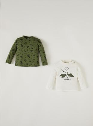 Khaki - baby t-shirts - DeFacto