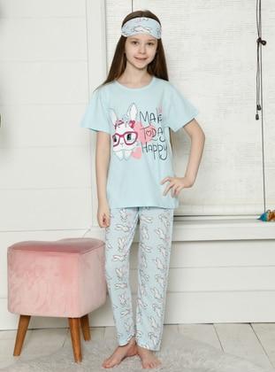 Crew neck - Blue - Girls` Pyjamas