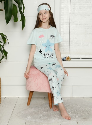 Crew neck - Sea-green - Girls` Pyjamas