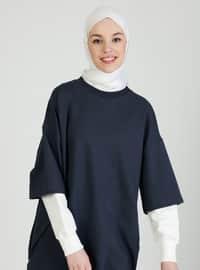 Crew neck - Blue - Sweat-shirt