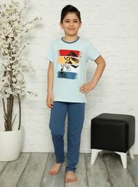 Crew neck - Blue - Boys` Pyjamas