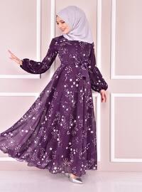 Plum - Modest Evening Dress