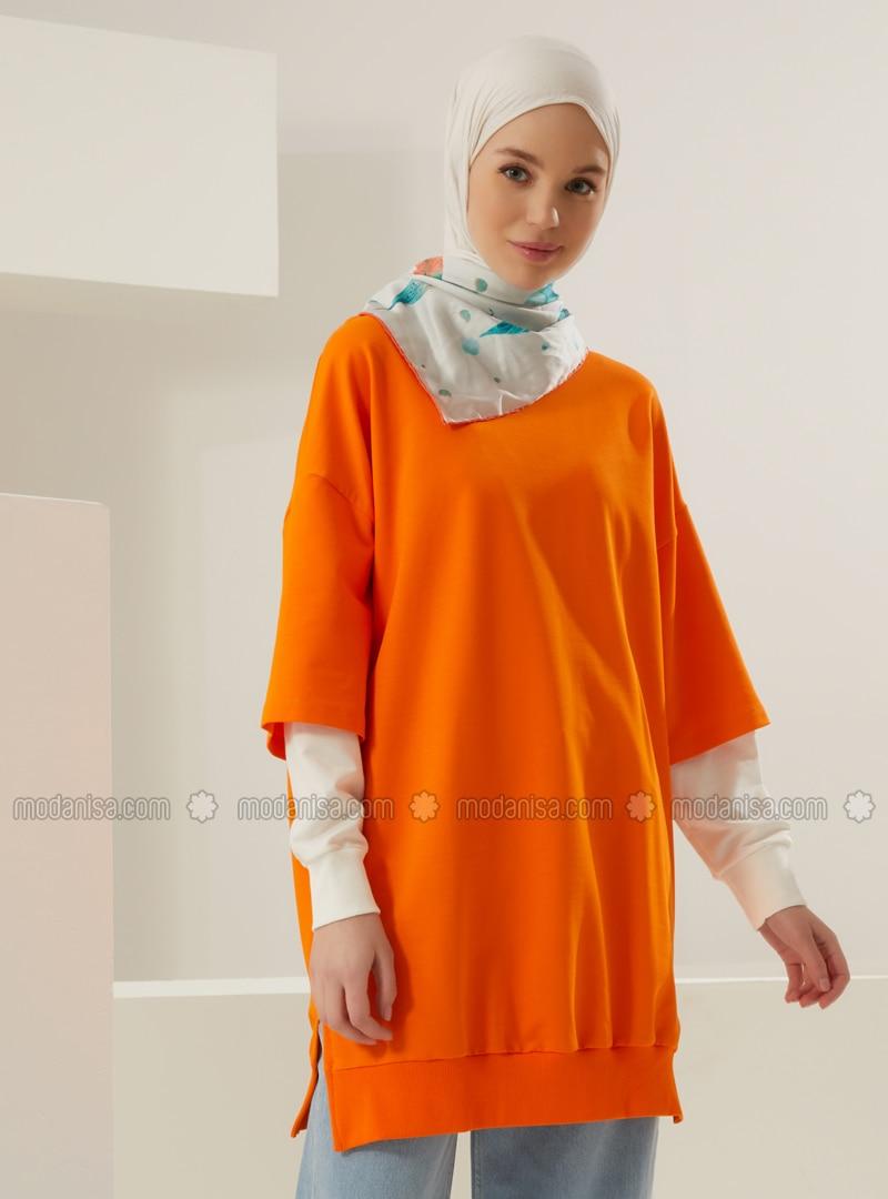 Crew neck - Orange - Sweat-shirt
