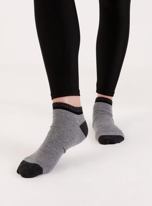 Anthracite - Socks - AKBENİZ