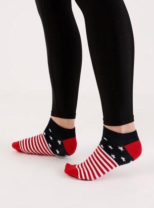 Red - Socks - AKBENİZ