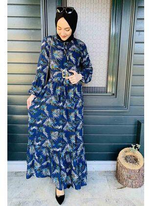 Navy Blue - Modest Dress