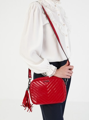 Red - Crossbody - Satchel - Shoulder Bags