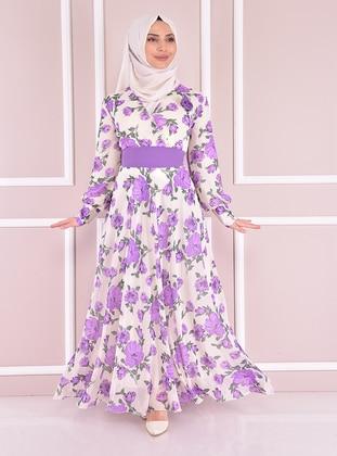 Lilac - Modest Evening Dress