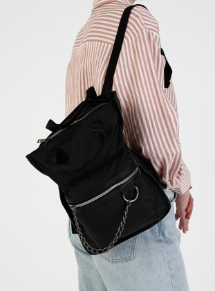 Black - Backpack - Shoulder Bags