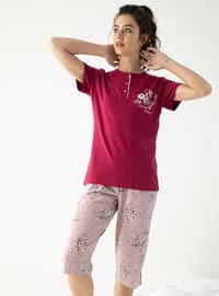 Cherry - Crew neck - Multi - Pyjama Set