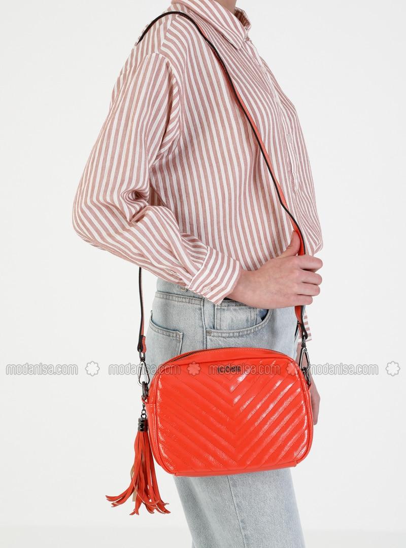 Orange - Crossbody - Satchel - Shoulder Bags