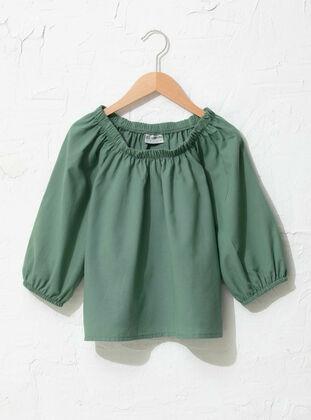 Green - Girls` Blouse