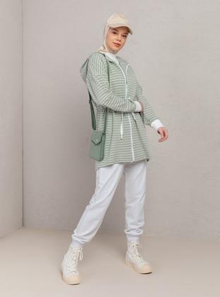 Mint - Stripe - Tracksuit Top - Muni Muni