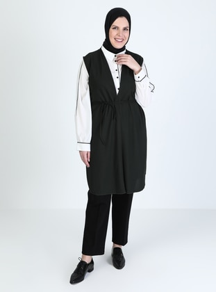Khaki - Plus Size Vest