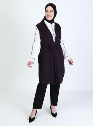 Plum - Plus Size Vest