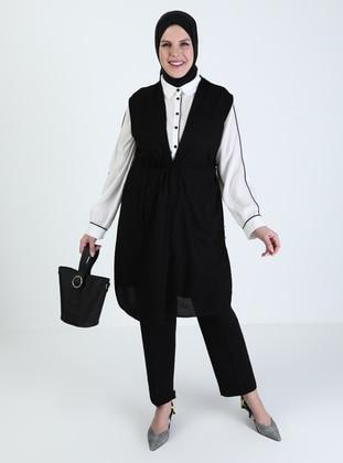 Black - Plus Size Vest