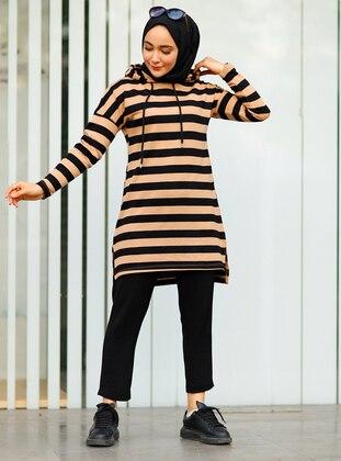 Beige - Stripe - Tunic