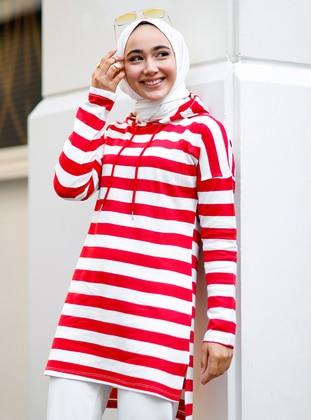 Red - Stripe - Tunic