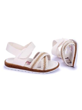 White - Girls` Sandals - Kiko Kids