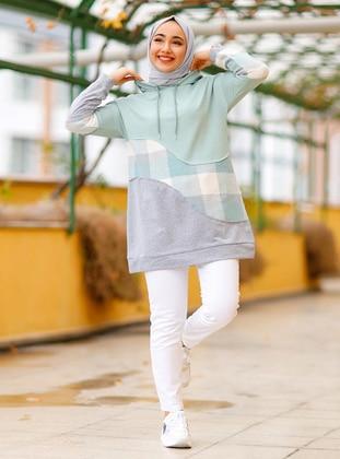 Plaid - Mint - Sweat-shirt