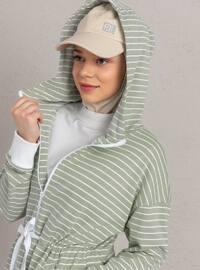 Mint - Stripe - Tracksuit Top