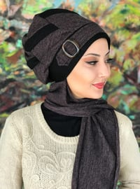 Purple - Black - Plain - Instant Scarf